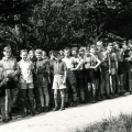Klassenfahrt nach Bad Essen, Jugendherberge, 7. Klasse von links: Lehrer, NN, Klaus Peters, Dieter Hülsken ...